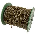 Żelazny drut na pętli, żelazo, Owal, Platerowane kolorem starego brązu, bez zawartości niklu, ołowiu i kadmu, 3.80x4.80x1mm, długość:50 m, sprzedane przez PC