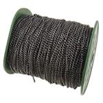 Żelazny drut na pętli, żelazo, Owal, Platerowane plombem w czarnym kolorze, bez zawartości niklu, ołowiu i kadmu, 3x4x0.80mm, długość:100 m