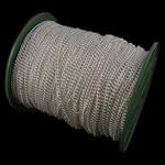 Żelazny drut na pętli, żelazo, Owal, Platerowane w kolorze srebra, bez zawartości niklu, ołowiu i kadmu, 3x4x0.80mm, długość:100 m, sprzedane przez PC