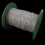 Żelazny drut na pętli, żelazo, Owal, Platerowane w kolorze srebra, bez zawartości niklu, ołowiu i kadmu, 2x3x0.50mm, długość:100 m, sprzedane przez PC