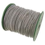 Żelazny drut na pętli, żelazo, Owal, Platerowane w kolorze platyny, bez zawartości niklu, ołowiu i kadmu, 4.50x5.70x1.20mm, długość:50 m, sprzedane przez PC