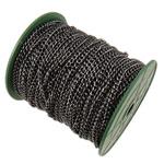 Żelazny drut na pętli, żelazo, Owal, Platerowane plombem w czarnym kolorze, bez zawartości niklu, ołowiu i kadmu, 4.50x5.70x1.20mm, długość:50 m, sprzedane przez PC