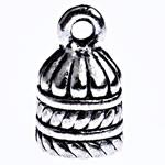 Końcówka ze stopu cynku, Stop cynku, Platerowane kolorem starego srebra, bez zawartości ołowiu i kadmu, 15x9mm, otwór:około 2mm, około 230komputery/KG, sprzedane przez KG