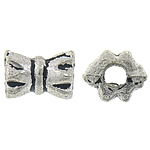 Zinc Alloy Jewelry Beads, Drum, antique silver color plated, nickel, lead & cadmium free, 6x4.50mm, Hole:Approx 1.5mm, Approx 4000PCs/KG, Sold By KG