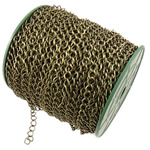 Iron Rhombus Chain, antique bronze color plated, nickel, lead & cadmium free, 6.50x8x1mm, Length:50 m, Sold By PC