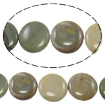 Agate Beads, Wooden Agate, Flat Round, 24x7mm, Hole:Approx 1.5mm, 16PCs/Strand, Sold Per Approx 15 Inch Strand