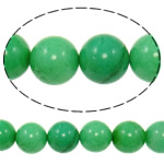 Natural Jade Beads Jade Malaysia Round green 16mm Hole:Approx 1.2-1.4mm Approx 23PCs/Strand Sold Per Approx 15 Inch Strand