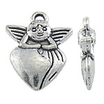 Character Shaped Zinc Alloy Pendants, antique silver color plated, nickel, lead & cadmium free, 14x18x4mm, Hole:Approx 1.5mm, Approx 523PCs/KG, Sold By KG