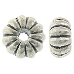 Zinc Alloy Jewelry Beads, Rondelle, antique silver color plated, nickel, lead & cadmium free, 8x4mm, Hole:Approx 1.8mm, Approx 1041PCs/KG, Sold By KG