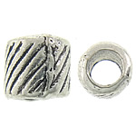 Zinc Alloy Jewelry Beads, Rondelle, antique silver color plated, nickel, lead & cadmium free, 5.50x5.50mm, Hole:Approx 3mm, Approx 2272PCs/KG, Sold By KG