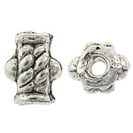 Zinc Alloy Jewelry Beads, Nuggets, antique silver color plated, nickel, lead & cadmium free, 6x7.70x5mm, Hole:Approx 1.5mm, Approx 1923PCs/KG, Sold By KG