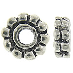 Zinc Alloy Spacer Beads, Rondelle, antique silver color plated, nickel, lead & cadmium free, 6.50x2.60mm, Hole:Approx 2mm, Approx 1298PCs/KG, Sold By KG