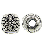 Zinc Alloy Jewelry Beads, Drum, antique silver color plated, nickel, lead & cadmium free, 6x5.70mm, Hole:Approx 2.2mm, Approx 1250PCs/KG, Sold By KG