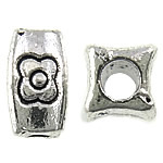 Zinc Alloy Jewelry Beads, antique silver color plated, nickel, lead & cadmium free, 4x8x3.50mm, Hole:Approx 2mm, Approx 1428PCs/KG, Sold By KG