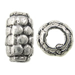 Zinc Alloy Jewelry Beads, Drum, antique silver color plated, nickel, lead & cadmium free, 5x9mm, Hole:Approx 2mm, Approx 909PCs/KG, Sold By KG