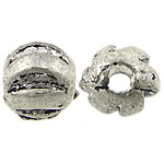 Zinc Alloy Jewelry Beads, Nuggets, antique silver color plated, nickel, lead & cadmium free, 4x3mm, Hole:Approx 1.4mm, Approx 1666PCs/KG, Sold By KG