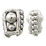 Zinc Alloy Jewelry Beads, Nuggets, antique silver color plated, nickel, lead & cadmium free, 5x6x4mm, Hole:Approx 1mm, Approx 3333PCs/KG, Sold By KG