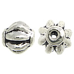 Zinc Alloy Jewelry Beads, Drum, antique silver color plated, nickel, lead & cadmium free, 6x6mm, Hole:Approx 1mm, Approx 1818PCs/KG, Sold By KG