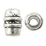 Zinc Alloy Jewelry Beads, Drum, antique silver color plated, nickel, lead & cadmium free, 3x5mm, Hole:Approx 1mm, Approx 6666PCs/KG, Sold By KG