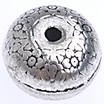 Zinc Alloy Jewelry Beads, Rondelle, antique silver color plated, lead & cadmium free, 12x8mm, Hole:Approx 1.8mm, Approx 238PCs/KG, Sold By KG