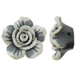 Koraliki z gliny polimerowej, Glina polimerowa, Kwiat, 23x12mm, otwór:około 2mm, 100komputery/torba, sprzedane przez torba