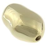 Srebrne koraliki 925, Srebro 925, Bryłki, Platerowane prawdziwym złotem, 19x12x9mm, otwór:około 2mm, 5komputery/torba, sprzedane przez torba