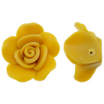 Polymer Clay Beads, Flower, yellow, 23x11mm, Hole:Approx 2mm, 100PCs/Bag, Sold By Bag