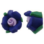 Polymer Clay Beads, Flower, flat back, multi-colored, 11x7mm, 100PCs/Bag, Sold By Bag