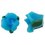 Polymer Clay Beads, Flower, skyblue, 11x8mm, Hole:Approx 1mm, 100PCs/Bag, Sold By Bag