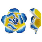 Koraliki z gliny polimerowej, Glina polimerowa, Kwiat, 43x16mm, otwór:około 2.5mm, 100komputery/torba, sprzedane przez torba