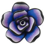 Polymer Clay Beads, Flower, purple, 42x20mm, Hole:Approx 2mm, 100PCs/Bag, Sold By Bag