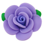 Polymer Clay Beads, Flower, purple, 51x16mm, Hole:Approx 2mm, 100PCs/Bag, Sold By Bag