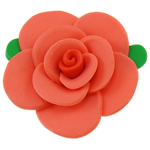 Polymer Clay Beads, Flower, red, 51x21mm, Hole:Approx 2mm, 100PCs/Bag, Sold By Bag