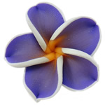 Polymer Clay Beads, Flower, purple, 30x9mm, Hole:Approx 1mm, 100PCs/Bag, Sold By Bag
