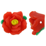 Polymer Clay Beads, Flower, orange, 15x16x9mm, Hole:Approx 2mm, 100PCs/Bag, Sold By Bag