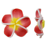 Polymer Clay Pendants, Flower, more colors for choice, 25x25x7mm, Hole:Approx 1.5mm, 100PCs/Bag, Sold By Bag