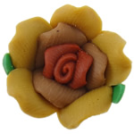 Polymer Clay Beads, Flower, 14x14x10mm, Hole:Approx 2mm, 100PCs/Bag, Sold By Bag