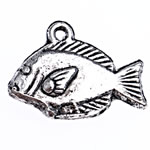 Zinc Alloy Animal Pendants, antique silver color plated, lead & cadmium free, 17.50x13x4mm, Hole:Approx 1mm, Approx 714PCs/Bag, Sold By Bag