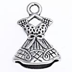 Zinc Alloy Pendants, antique silver color plated, nickel, lead & cadmium free, 22x15x5.50mm, Hole:Approx 2mm, 526PCs/Bag, Sold By Bag