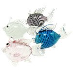 Fashion Decoration, Lampwork, Fish, mixed colors, 35.50x75x58mm, 5PCs/Lot, Sold By Lot