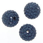 Czech Rhinestone Beads Clay Pave Round with 99 pcs rhinestone   with Czech rhinestone 10mm Hole:Approx 1.5mm 10PCs/Bag