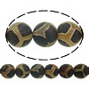 Natural Tibetan Agate Dzi Beads, Round, different size for choice & textured, Hole:Approx 1-1.2mm, Length:Approx 15 Inch, Sold By Lot