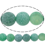 Natuurlijke Effloresce Agaat kralen, Ronde, verschillende grootte voor keus, groen, Gat:Ca 1-1.2mm, Per verkocht Ca 15 inch Strand