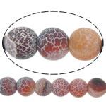 Natuurlijke Effloresce Agaat kralen, Ronde, verschillende grootte voor keus, Gat:Ca 1-1.2mm, Per verkocht Ca 15 inch Strand