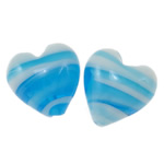 Plated Lampwork Beads, Heart, 16x10mm, Hole:Approx 2mm, 100PCs/Bag, Sold By Bag
