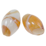Plated Lampwork Beads, Oval, 18x12mm, Hole:Approx 2mm, 100PCs/Bag, Sold By Bag