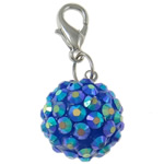 Resin Pendant, Round, blue, 20mm, Hole:Approx 4x4.5mm, 50PCs/Bag, Sold By Bag
