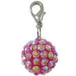 Resin Pendant, Round, 16mm, Hole:Approx 4x4.5mm, 50PCs/Bag, Sold By Bag