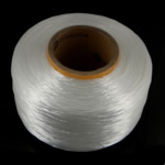 Elastic Thread, Nylon, with Cardboard, South Korea Imported, white, 0.8-1mm, Length:Approx 4500 m, Sold By PC
