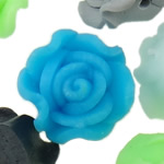 Polymer Clay Beads, Flower, mixed colors, 12x9-14x10mm, Hole:Approx 1-2mm, 100PCs/Bag, Sold By Bag